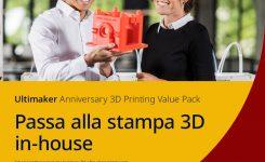 ULTIMAKER ANNIVERSARY VALUE PACK: SCONTO 20% SU TUTTE LE STAMPANTI 3D ULTIMAKER FINO AL 31/12/21